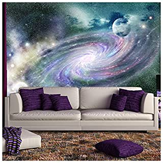 azutura Purple Galaxy Spiral Wall Mural Space Nebula Photo Wallpaper Bedroom Home Decor available in 8 Sizes Gigantic Digital