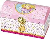 Prinzessin Lillifee Schmuckkästchen Schatztruhe aus laminierter Pappe mit Schloss, Glitzerfolie und Spiegelfolie