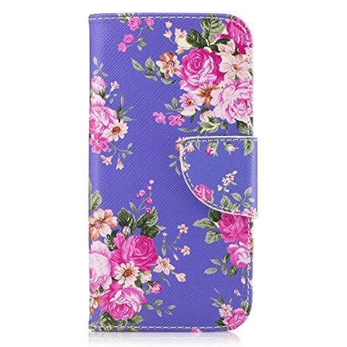 ISAKEN Compatibile con Samsung Galaxy A3 2017 Custodia Flip Cover in Pelle PU Protettiva Portafoglio Wallet Case Cover con...