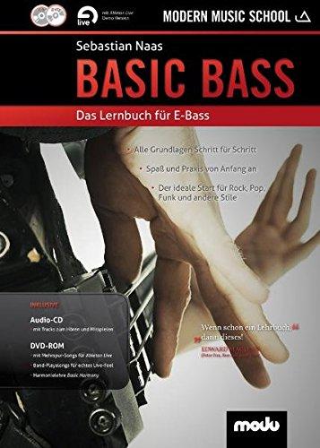 Basic Bass: Das Lernbuch für E-Bass. Bass. Lehrbuch mt CD + DVD. (Jazz-gitarre Dvd)