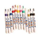 Beneary 12 Farben Setzt feine Farbe auf Ölbasis Art Marker Pen Metallglas wasserdicht