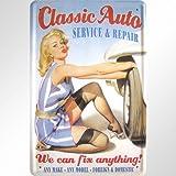 PIN UPS 'Classic Auto clásico Pinup Diseño Cartel de Chapa Réplica