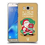 Head Case Designs Weihnachts-Wunsch Wilbur Die Katze All Star Weinachten Ruckseite Hülle für Samsung Galaxy J5 (2016)