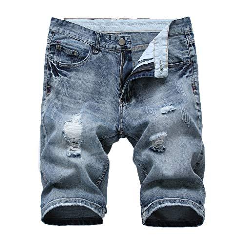 Preisvergleich Produktbild KERULA Jeans Herren Männer Sommer Kurze Hommes Jean Shorts Bermuda Skate Board Harem Fashion Regular Original Straight Jeanshose Designer Hose