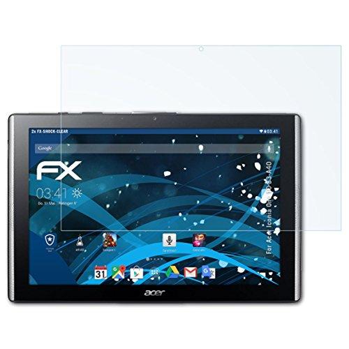 atFolix Schutzfolie kompatibel mit Acer Iconia One 10 B3-A40 Panzerfolie, ultraklare & stoßdämpfende FX Folie (2X)