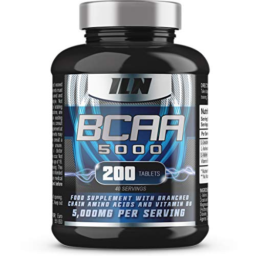 51GbF02qfdL. SS500  - BCAA 5000 - 5,000mg BCAAs Serving - BCAA Food Supplement - 40 Servings (200 BCAA Tablets)