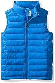 Amazon Essentials Boys' Lightweight Water-Resistant Packable Puffer Vest N