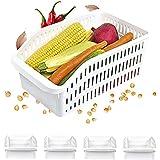 Homelife - Lot de 4 Bacs de Rangement Réfrigérateur FRIMAX - Transparent pour refrigerateur Tiroir Organisateur Panier legume