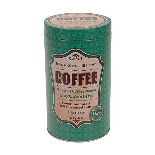 Kaffeedose Aufbewahrungsdose, Vintage Design (11x19cm), Grün