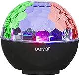 Denver 111151030120 Denver Bluetooth-Lautsprecher mit Disco-Lichteffekten und AUX-Eingang, Schwarz Schwarz