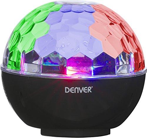 Denver BTL-65 Bluetooth-Lautsprecher mit Disco-Lichteffekten und AUX-Eingang, Schwarz