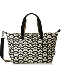 Orla Kiely Women's Zip Holdall Travel Totes Luggage, Black (Charcoal), 44x38x21 cm (W x H x L)
