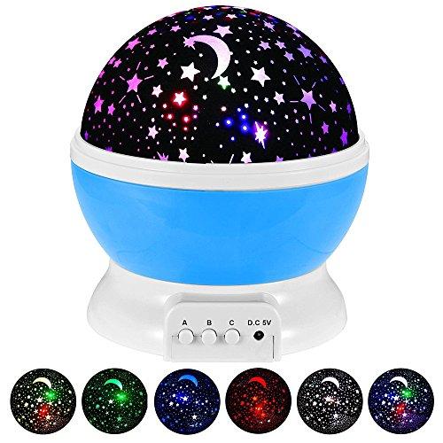 Lámpara Infantil GRDE, Regalo Para Niñas Lámpara Proyector Rotación 360 Grados de...