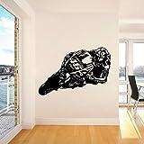 zlhcich Valentino Rossi Motor GP Racing Bambini Stickers murali Moto Scooter Moto Wall Sticker Murale Camera da Letto Vinyl Decor Poster 57X85cm
