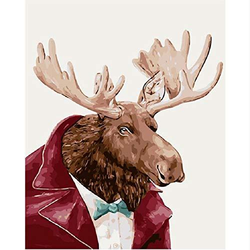 CCEEBDTO Puzzle 1000 Stück Mr Elk Anzug Tier DIY Digital Modern Home Decor 3D Holzpappe Puzzles Urlaub Sammlung Geschenke Kinder Puzzles Gruppenaktivitäten (Anzug Kinder Kessel)