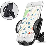 Support Telephone Voiture Ventilation - Auto Universel à Angle Réglable pour iPhone 7/6s/6/SE/5/5s,Samsung Galaxy Galaxy S8/S7/S7edge/a5/Note,Nexus,LG,Sony,Android Smartphones,Appareils GPS