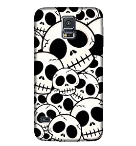 Samsung New S5 Skull Graphic & Illustration Phone Back coverGI30