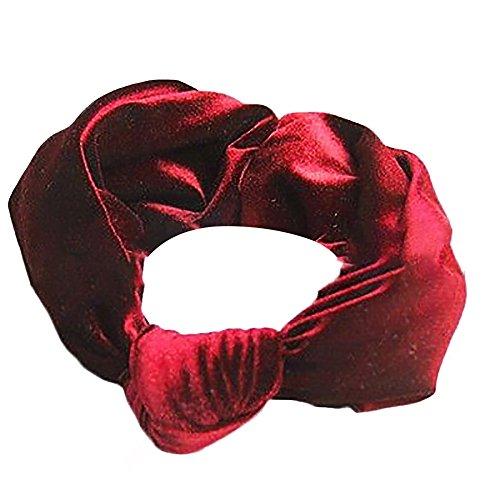 Dicomi Haarband Schleife Baby Haarband Fischschuppen Schmetterling Knoten Haarband Kopfbedeckung Baby Haarschmuck Kopfschmuck Kopftuch Rot
