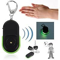 Buscador de Llaves de Alarma Anti-perdida Buscador de Llavero de Localización de Luces LED de silbido útil (Color: Verde)