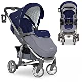 Baby Stroller Pram VIRAGE High Class Aluminium Pushchair - foldable, Colour Sapphire
