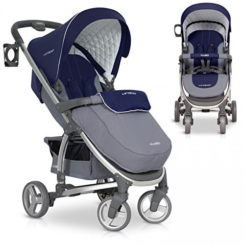 Poussette Canne Bebe pliable VIRAGE de luxe - Aluminium Version