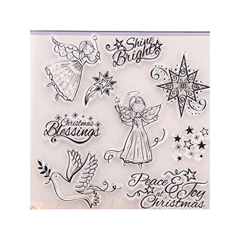 onstempel, Clear Stamps - Stempel for Scrapbooking Album Foto,Halloween Weihnachten Valentinstag Thanksgiving Geschenke ()