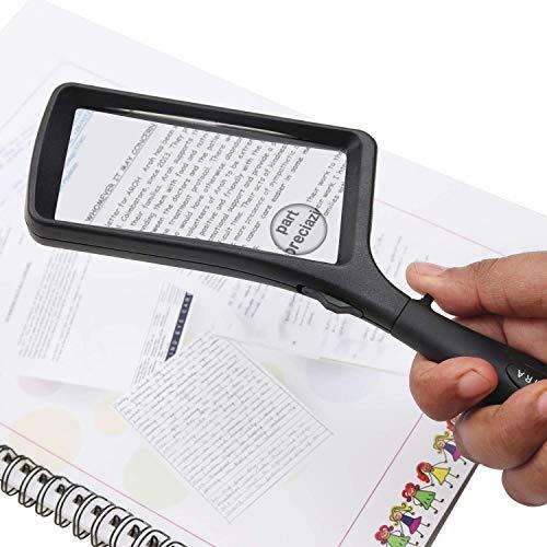 Leselupe 2X 6X Lupe mit LED Licht, Handlupe Vergrößrungglas für Senioren, Schmuck Lupe zum Lesen von Kleingedrucktem, Karten, Münzen, Briefmarken & Schmuck - 2