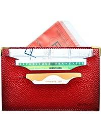 Charmoni - Charmoni® étuis Enveloppe Ouverte Porte Papier De Voiture Le Permis De Conduire La Carte Grise Carte D'identité Cuir Mahadi