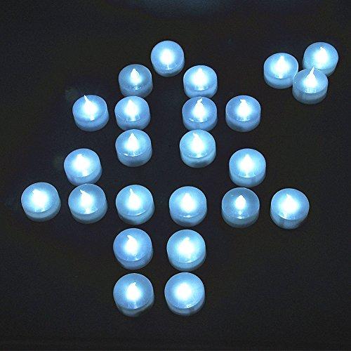 Shine-CO LED Velas Sin Llama con Batería Electrícas Decorativas, Fiestas, 24 piezas