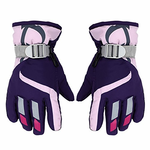 PROKTH Children Ski Gloves for 3-6 Years Boy/Girl, Waterproof Windproof Winter Snow Gloves for Outdoor Sports Mountain Climbing, Hiking, Riding