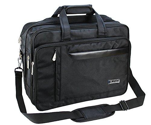 Laptop Bag, Men's Classic Carry-all Clutch Business Document Briefcase Computer PC Shoulder Messenger Bag Expandable Handbag for 15.6 16 inch Computer Macbook Pro Macbook Air Ultrabooks Travel Satchel