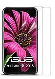 moex 2X Asus Zenfone 5 (2018) | Schutzfolie Klar Bildschirm Schutz [Crystal-Clear] Screen Protector Display Handy-Folie Dünn Bildschirmschutz-Folie für Asus Zenfone 5 (2018) Bildschirmfolie