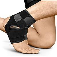 BRACOO Fußbandage – Sprunggelenkbandage – Knöchelschutz – Fußgelenkbandage | Fußgelenkstütze mit Klettverschluss | FS10 | L/XL