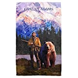 GRIZZLY ADAMS/WILDERNESS-BEACH TOWEL -WHITE-ONE SIZE by Grizzly Adams
