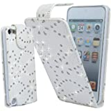 WHITE GLITTER DIAMOND PU LEATHER CASE COVER POUCH FOR APPLE IPHONE 5S By Connect Zone�