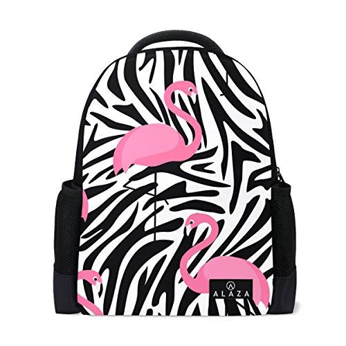 My Daily Flamingo Zebra Streifen Rucksack 35,6cm Laptop Daypack Schultasche für Reisen College Schule -