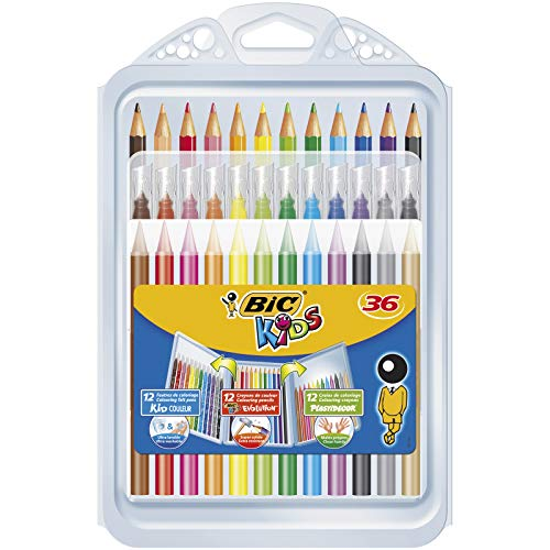 BIC Kids Set Colorear - 8 rotuladores/8 Lápices Colorear/12
