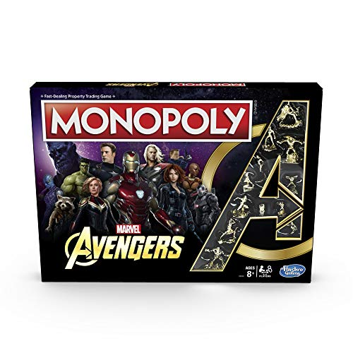 Monopoly Marvel Avengers Edition Board Game for Ages 8 and Up