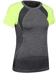 Bivens Wicking Sudadera de secado r¨¢pido Running Fitness Yoga Sports Camiseta de manga corta
