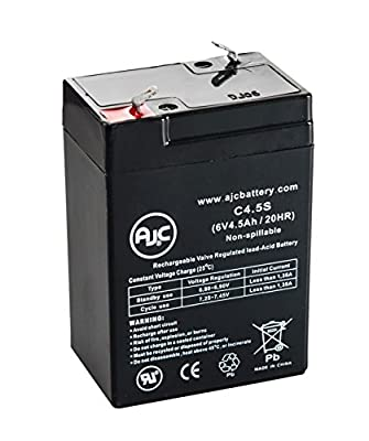 MK ES4-6 (6V 4.5AH) 6V 4.5Ah Wheelchair Battery - This is an AJC Brand® Replacement