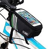 """Acmede Impermeabile MTB BMX Bicicletta ciclismo Telaio Borsa Bici Frontale Telefono Cellulare Borse da sella Custodia Caso Borsa Per Smartphone IPhones Android Nero 5.7"""""""
