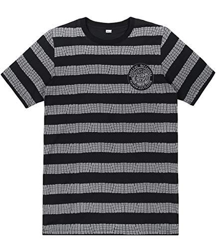 Palmen aus Plastik T-Shirt Kroko, Farbe:schwarz, Größe:M