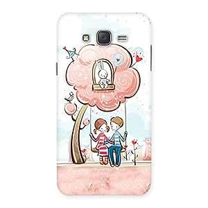 Cute Swing Love Multicolor Back Case Cover for Galaxy J7