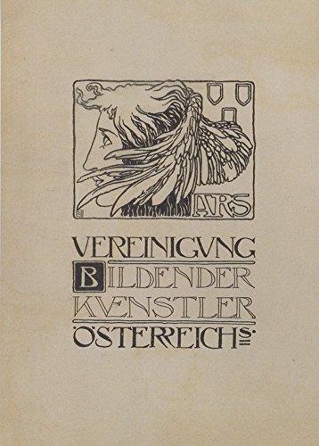 Vintage secession associazione di vienna austria artists secession prima pubblicazione c1897, design di koloman moser cartolina illustrata, formato a3, 250 g/mq, riproduzione