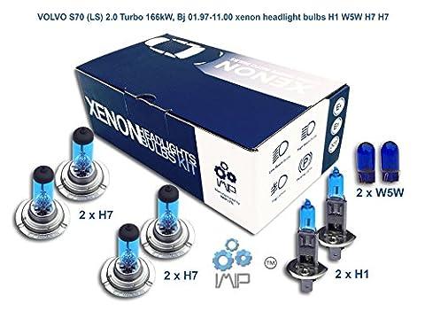 VOLVO S70 LS 2.0 Turbo 166kW, Bj 01.97-11.00 Xenon-Scheinwerfer H1 W5W H7 H7