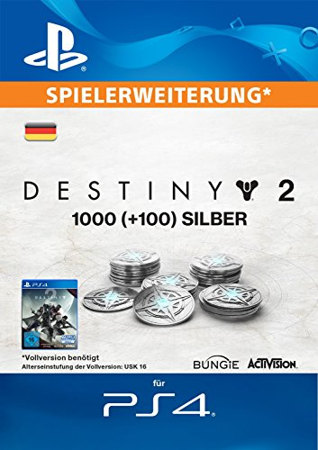 1000 (+100 Bonus) Destiny 2 Silber [PS4 Download Code - deutsches Konto]