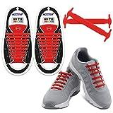 Homar No Tie Lacets pour les enfants et adultes - Best in Sports Fan Lacets imperméables Silicon Flat élastiques Lacets de sport course de chaussures pour Shoes Sneaker Conseil Bottes et Souliers (Adult Size Red)
