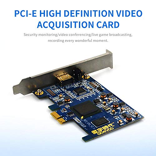 Tarjeta de captura de vídeo, Womdee PCI-E 4K HDMI/DVI HD Video Capture  1080p 60HZ Full HD Game Computer Recorded Support OBS Twitch Studio Live