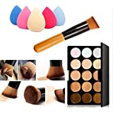 FEITONG Colores de maquillaje Corrector Contorno Paleta + Agua Esponja Puff + cepillo del maquillaje