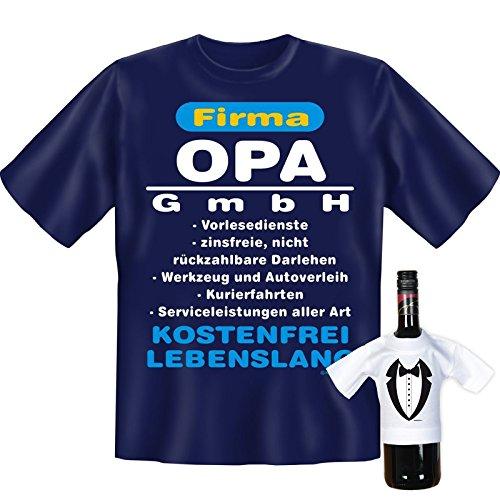 Sprüche Fun T-Shirt & Mini Shirt, Firma Opa, Geschenke Set, in Blau, Weihnachtsgeschenk, Geburtstagsgeschenk Navy-Blau